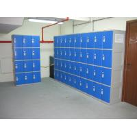 Buy cheap Highly Water Resistant Red Shoe Storage Locker Gray Body 4 Comparts per Column product