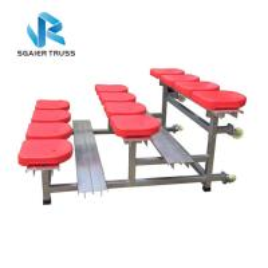 Metal Demountable Portable Bleacher Seats , School Outdoor Aluminum Bleachers