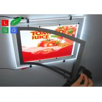 Buy cheap Ultra Thin Super Bright LED Crystal Lightbox Magnetic With Single Cable Hanging System for Shops Advertising product