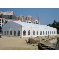 Buy cheap White 2Nd Hand Clear Span Marquee , Outside Storage Tents 500 People product