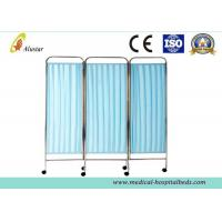 Buy cheap 1500*1870mm Medical Stainless Steel Hospital Privacy Screens With Swivel Caster (ALS-WS09) product