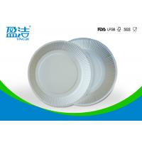 White Color Eco Friendly Paper Plates 6 Inch For Birthday Celebrations for sale