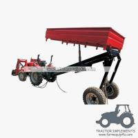 Buy cheap 2wheels tipper 3way hydraulic dump trailer small farm trailer product