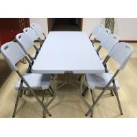 China 6 Foot Blue Fold-in Half Table (SY-183Z) on sale