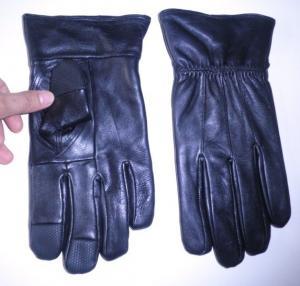 2013 winter fashion&showy women touch screen sheepskin leather gloves