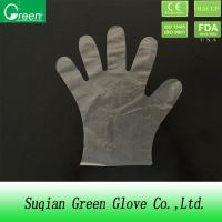 China Transparent Food Grade Hair dying Disposable HDPE Gloves phthalate free wholesale