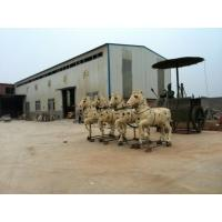 Buy cheap Bronze warriors drive the carriage sculpture for decoration product