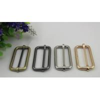 Buy cheap ECO -friendly multi-color 50 mm iron metal adjustable buckle for bag belt fittings product