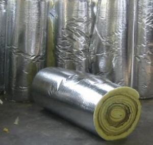 Buy cheap グラス ウール密度20kg/m3 x25MMX1.2MX20Mのグラスウール毛布/ロール product