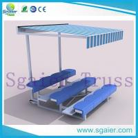 Factory high   quality aluimum outdoor beach portable bleachers with top cover