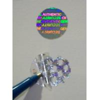 Buy cheap Gold Warranty Void Labels / Security Hologram Stickers Solid 3d Image product