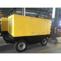 China  Mobile Diesel Engine Screw Air Compressor 250KW 340HP Low Noise Silent Type  for sale