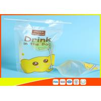 Buy cheap Custom Printed Stand Up Pouches Transprant Beverage Packaging Bags For Juice / Milk product