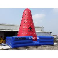 Exciting Outdoor Inflatable Sports Games , Red Inflatable Climbing Wall OEM & ODM