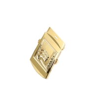 Buy cheap Gold Plating 30MM Metal Belt Buckle With Brand Logo Zinc Alloy product