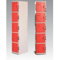 Buy cheap ABS Material Coin Operated Lockers 5 Tier Red / Orange For Swimming Pool product
