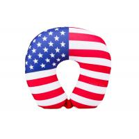 China Personalized US Flag Airplane Neck Pillow , U Shaped Neck Pillow For Travel wholesale