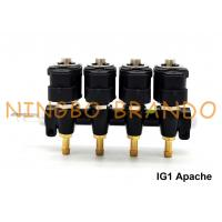 Buy cheap IG1 Apache OMB Type LPG / CNG Rail Injectors HD 4 Cylinders 3 Ohms DC12V product