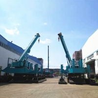 Buy cheap 1800KN Driving Force High Piling Speed Hydraulic Sheet Pile Driver product