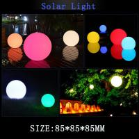 China Solar Powered Floating Ball Pool Lights Color Changing LED Glow Globe Pool Night Lamp For Garden Backyard Pond Party Dec on sale
