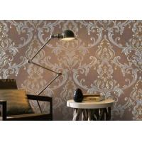 Buy cheap Removable Home Decoration Wallpaper 1.06*10m / Country House Wallpaper Floral Pattern product