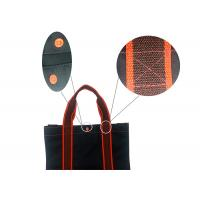 Buy cheap Beach Structure 420D 100 Polyester Tote Bags Shopping Black And Red With Button product