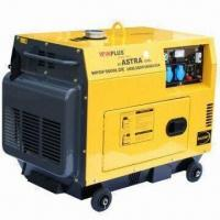 Buy cheap Diesel Generator with Rated Output of 4.2kW/50Hz and 10HP/3600rpm, Silent Type product