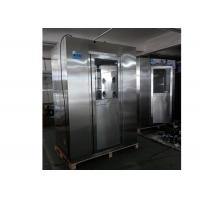 Buy cheap Standard Stainless Steel Vertical Air Shower Room With Top Side Air Flow from wholesalers