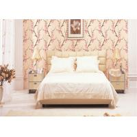 Buy cheap 3D Effect Peach Blossom Pattern Chinese Style  Wallpaper For Room Decoration , Eco-Friendly product