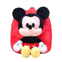 China 12 Inch Red Mickey Mouse Backpack For Toddler With Soft Plush Fabric Size on sale
