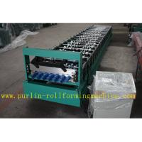 Buy cheap Trapezoidal Roof Panel Roof Tile Roof Sheet Cold Roll Forming Machine For Construction Material PLC Automated Control product