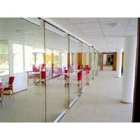 China Spotless Room Dividers / Aluminium Frame Sliding Glass Partition Wall for Office on sale