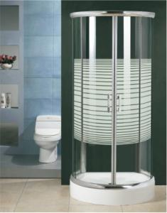 Buy cheap Transparent White Stripes ABS Tray  Shower Room Enclosure Tempered Glass product