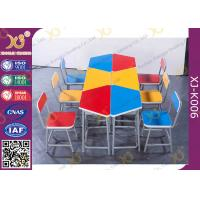 Buy cheap Colorful Collaborative Study Spliced Desk And Chair For High School Student from wholesalers