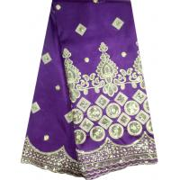 Buy cheap Fashion purple color African lace fabric silk george lace product