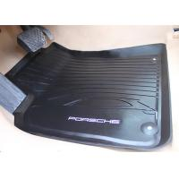 Quality PVC Black Floor Mats for Porsche Macan 2014 2016 , Foot Mat with Original Style Logo for sale