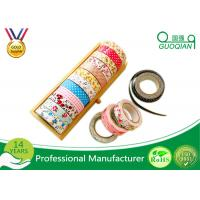 Buy cheap Printed Waterproof Masking Tape , Washi Colored Paper Masking Tape For Kid product
