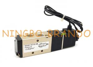 China 4V110-06 1/8'' 2 Position 5 Port Pneumatic Air Control Solenoid Valve on sale