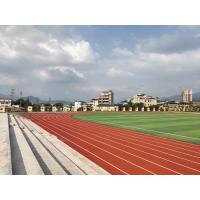 Quality Outdoor Plastic PU Sports Flooring For Running Track All Weather Cast for sale