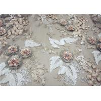 Buy cheap Beautiful Bead Lace Overlay Fabric Furniture Upholstery Fabric product