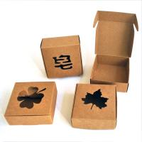 China Plain brown paper box small gift box for travel soap packaging on sale