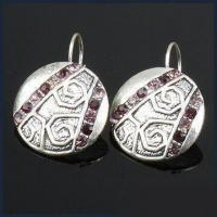 Buy cheap Drop Earrings in Fashionable Design, Made of Zinc Alloy Inlaid Red Czech product