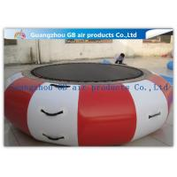 Interesting Round Inflatable Water Game , Inflatable Trampoline For Water Jumping