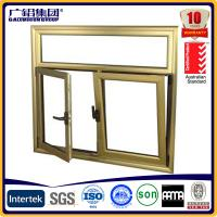 Buy cheap Wood color Aluminium double glazed windows for tilt and turn aluminium window (Guang zhou) product