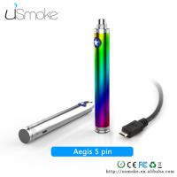 Buy cheap Rainbow Cigarette uSmoke Aegis 5 PIN USB Cable Passthrough battery 1100mah / 1300mah from wholesalers