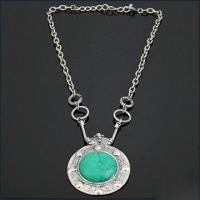 Buy cheap Turquoise Stone Necklace, Customized Logo Printings are Accepted, Available in Various Designs product