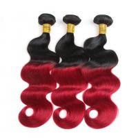 China Colored Ombre Hair Weave Body Wave Malaysian Hair Bundles Thick Hair Ends on sale