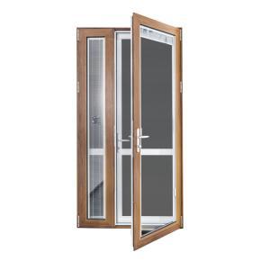 Buy cheap Apartment Aluminium Casement Doors Double Sided With Fiberglass Flyscreen product