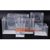 Buy cheap plastic clear heat seal square bottom pp bag with plastic handle,gift bag transparent shopping handle bag bagease pac product