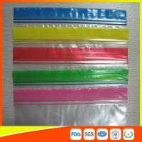 Buy cheap Transparent Plastic Packing Ziplock Bags Antistatic with Zipper Top Blue Lip product